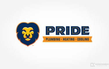 hvac and plumbing logo for Pride Plumbing, Heating & Cooling