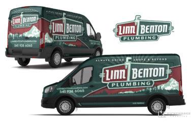 plumbing truck wrap for Linn Benton Plumbing