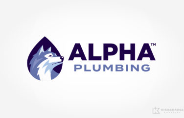 plumbing logo for Alpha Plumbing
