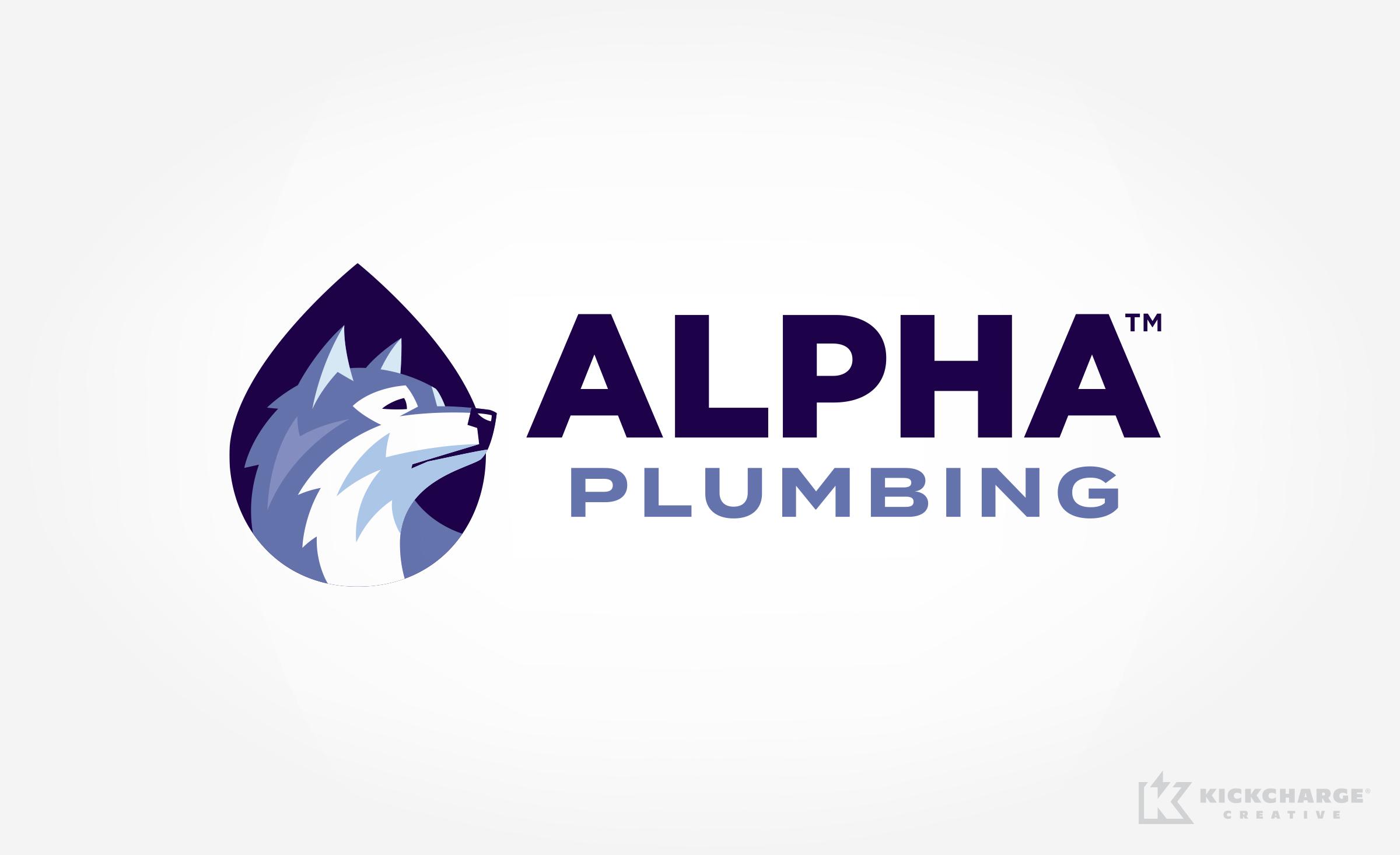 plumbing logo for Alpha Plumbing