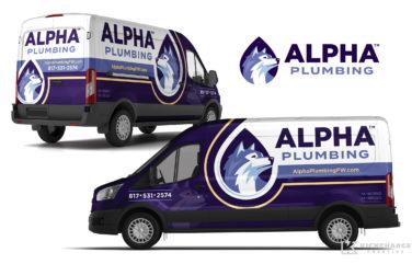 plumbing truck wrap for Alpha Plumbing
