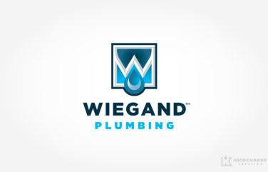 plumbing logo for Wiegand Plumbing