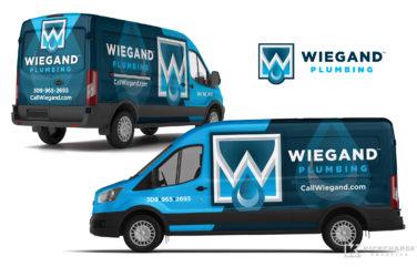 plumbing truck wrap for Wiegand Plumbing