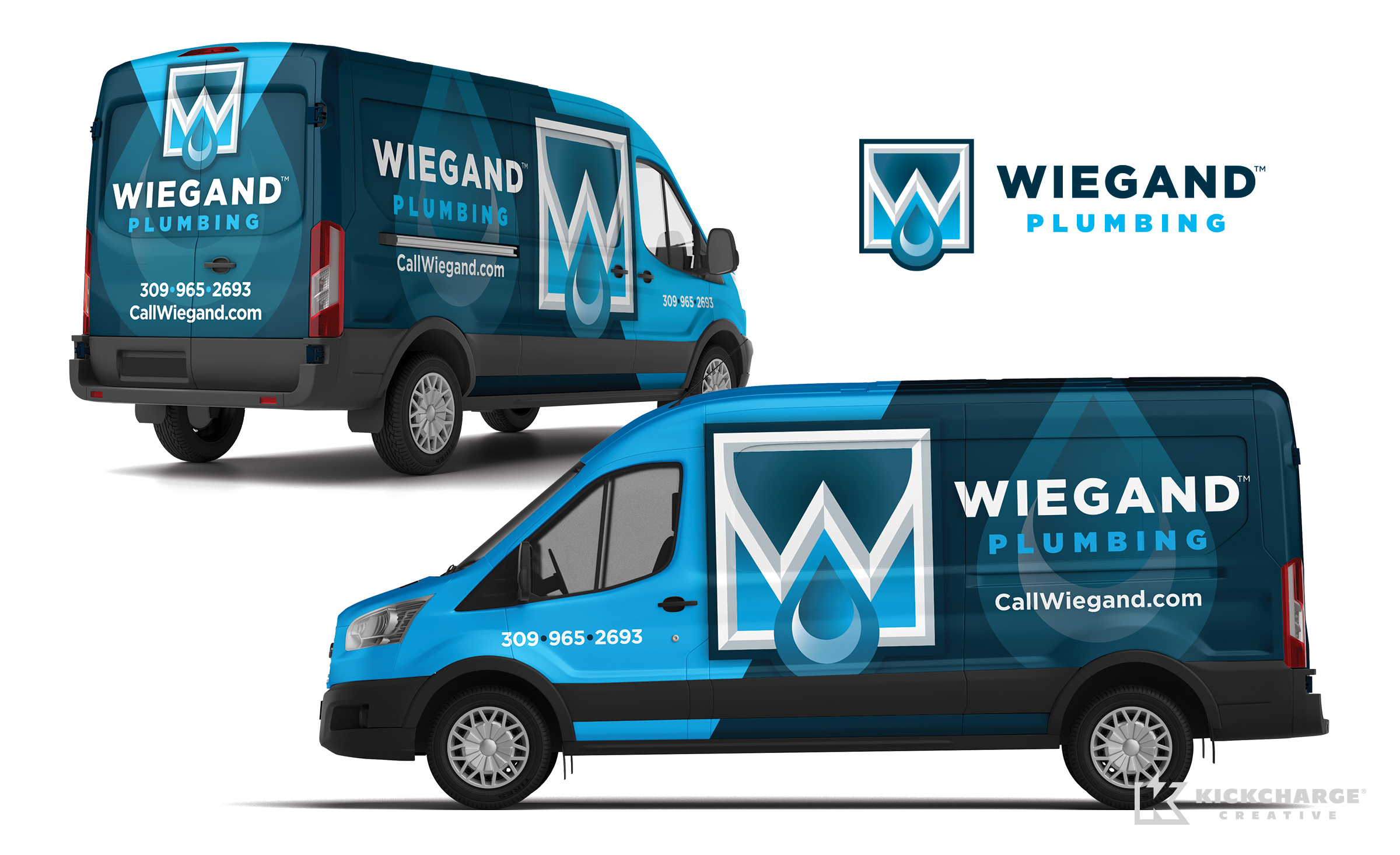 plumbing truck wrap for Wiegand Plumbing