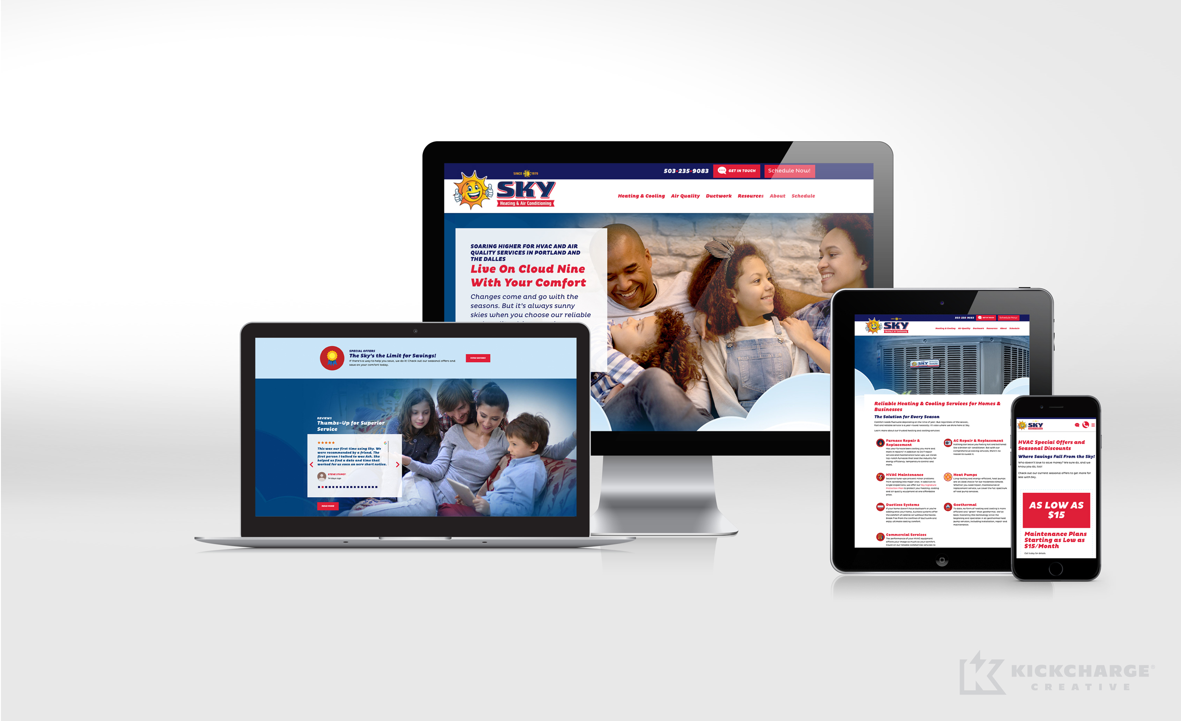hvac website for Sky Heating & Air Conditioning