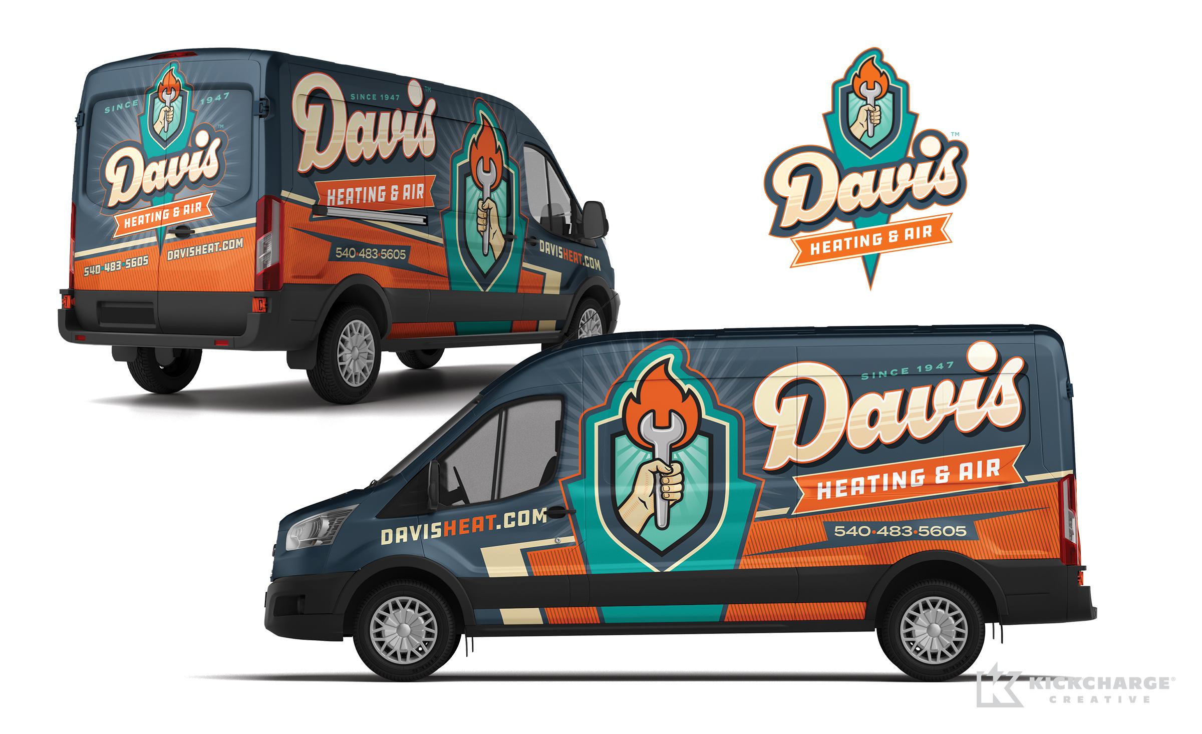 hvac truck wrap for Davis Heating & Air