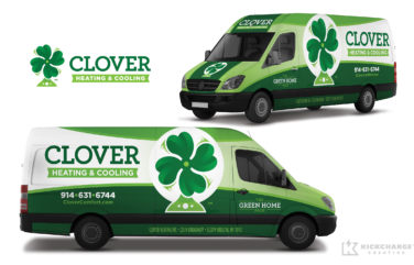 hvac truck wrap for Clover Heating & Cooling