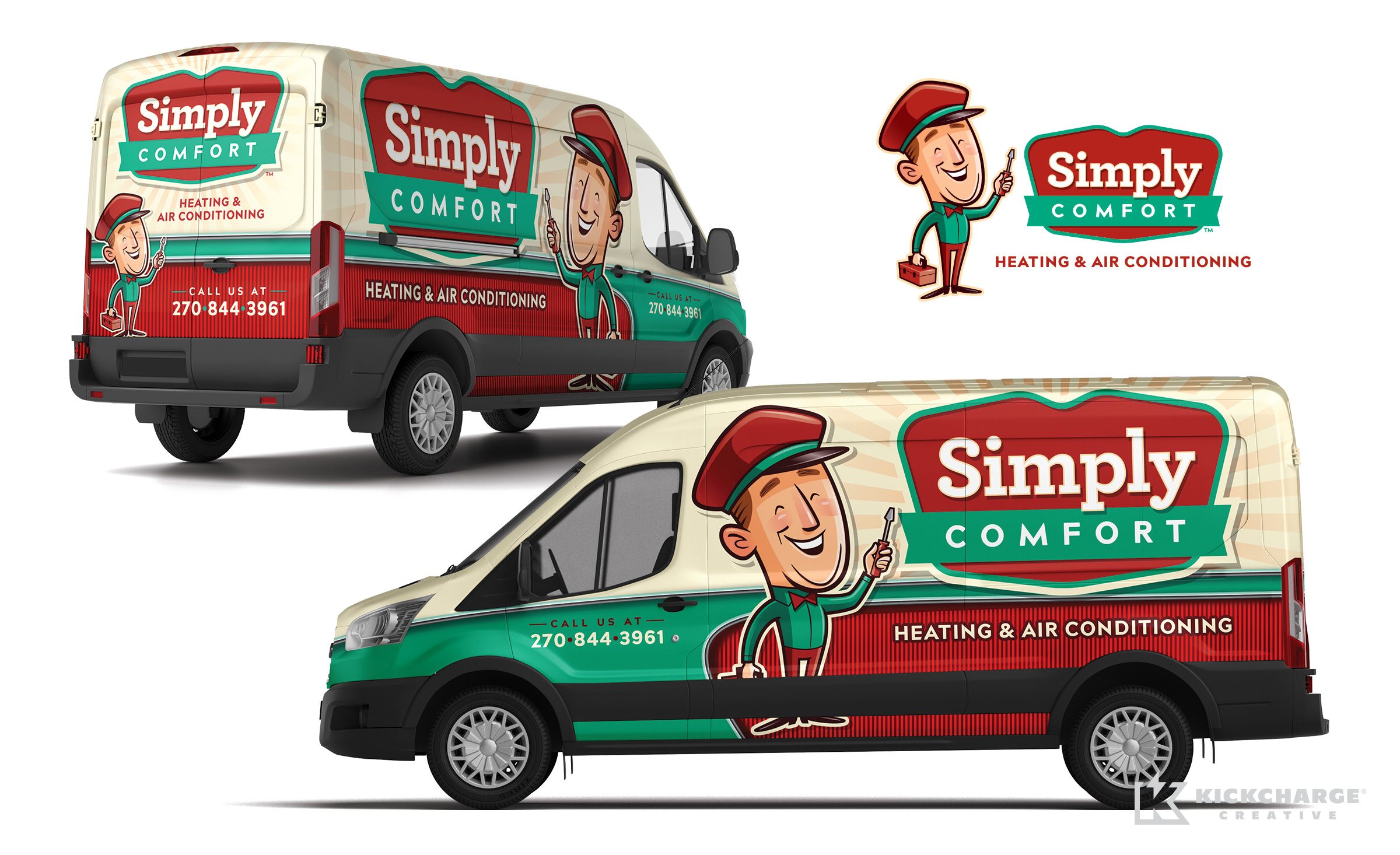 hvac truck wrap for Simply Comfort