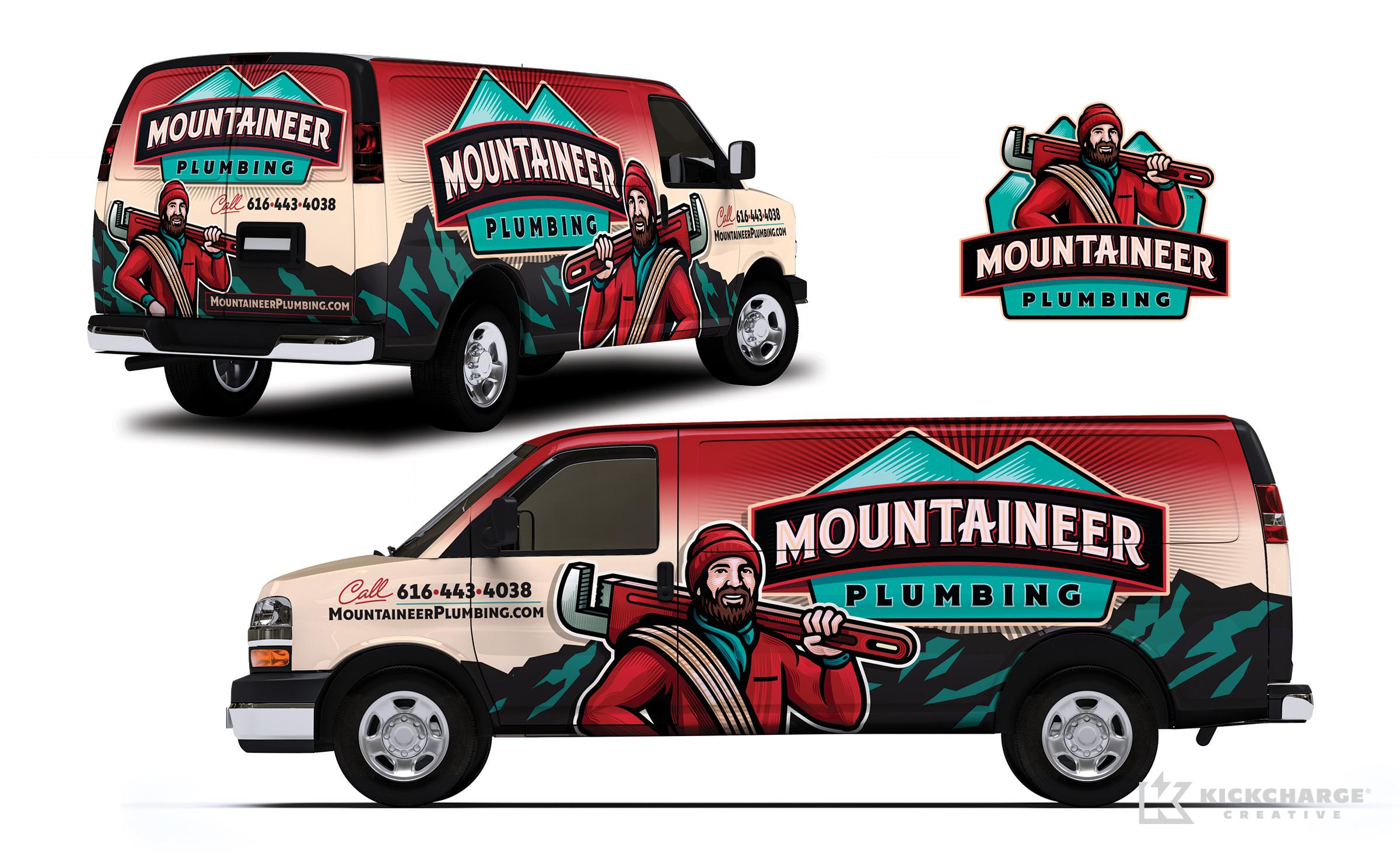 plumbing truck wrap for Mountaineer Plumbing