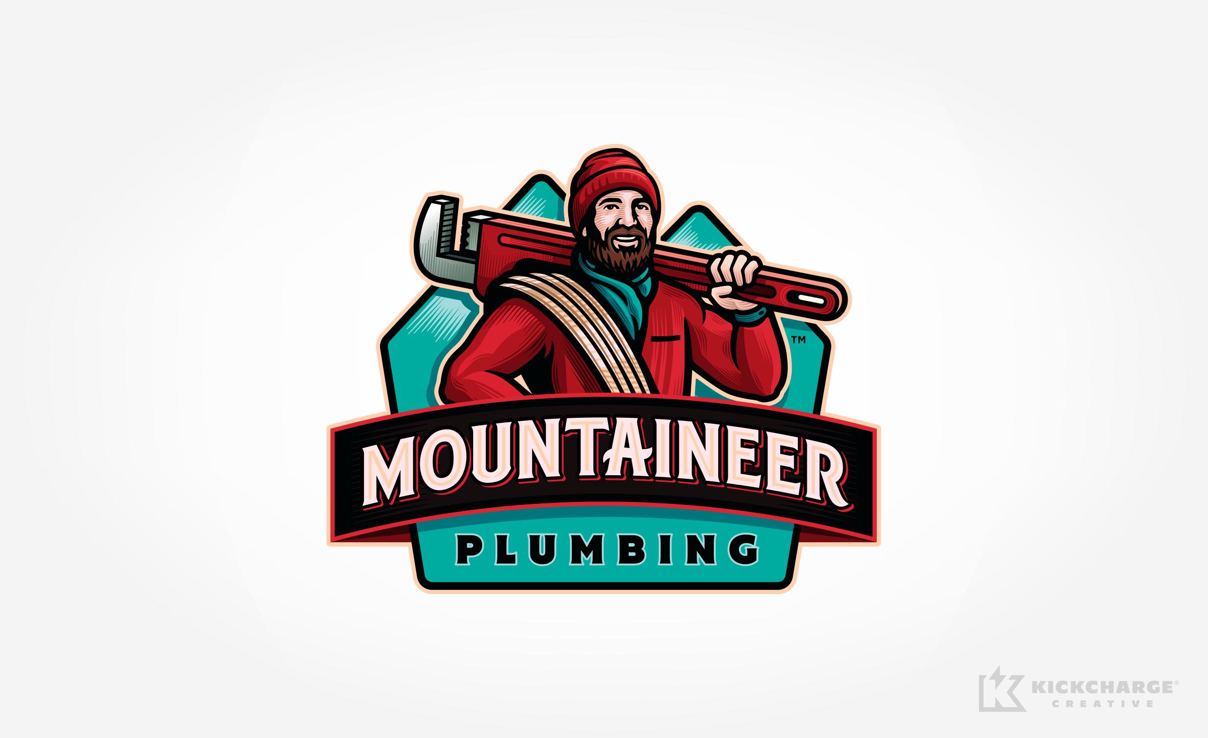 plumbing logo for Mountaineer Plumbing