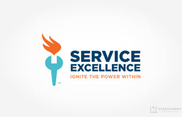 hvac logo design for Service Excellence