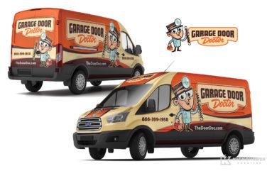 truck wrap for Garage Door Doctor