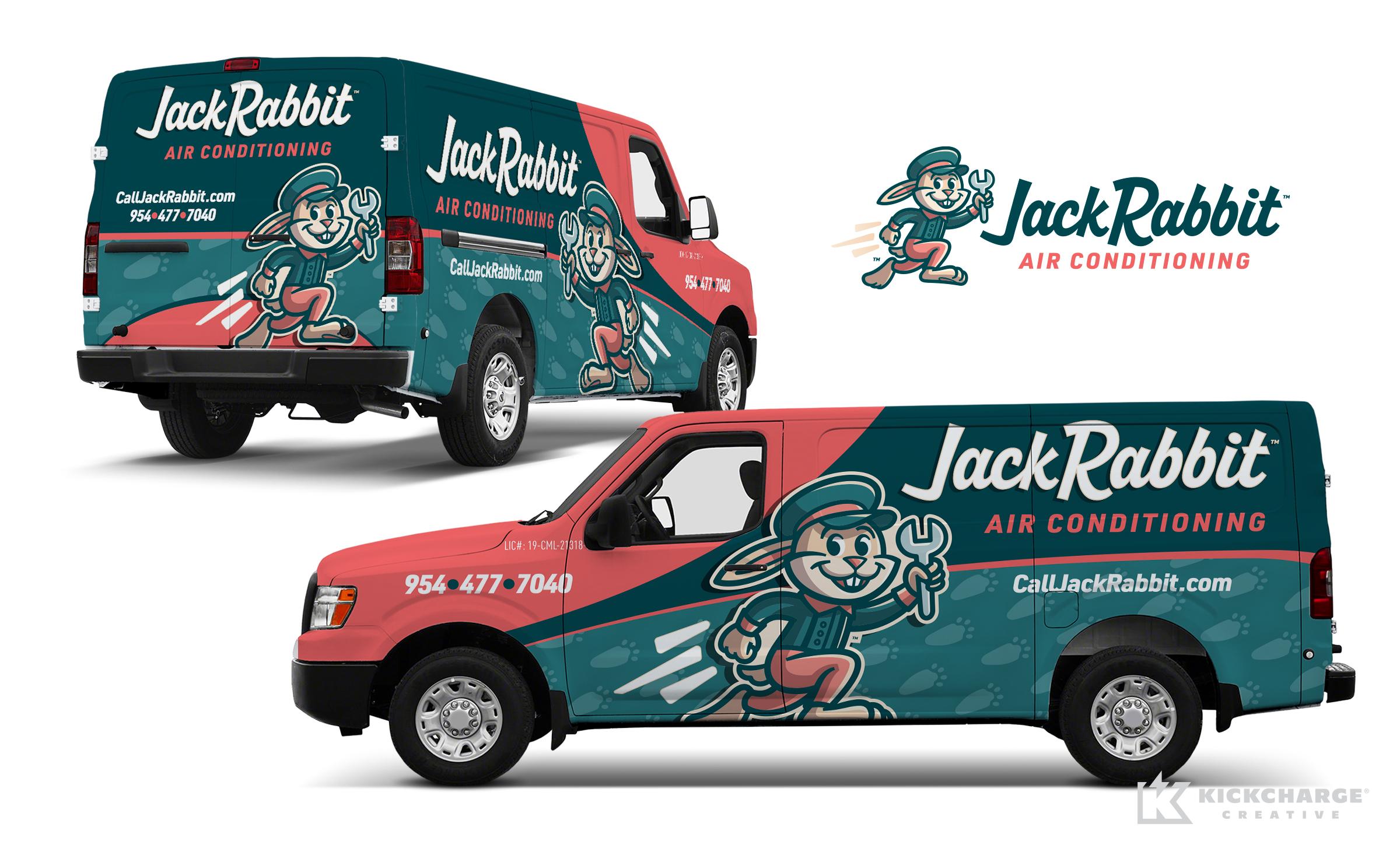 hvac truck wrap for Jack Rabbit
