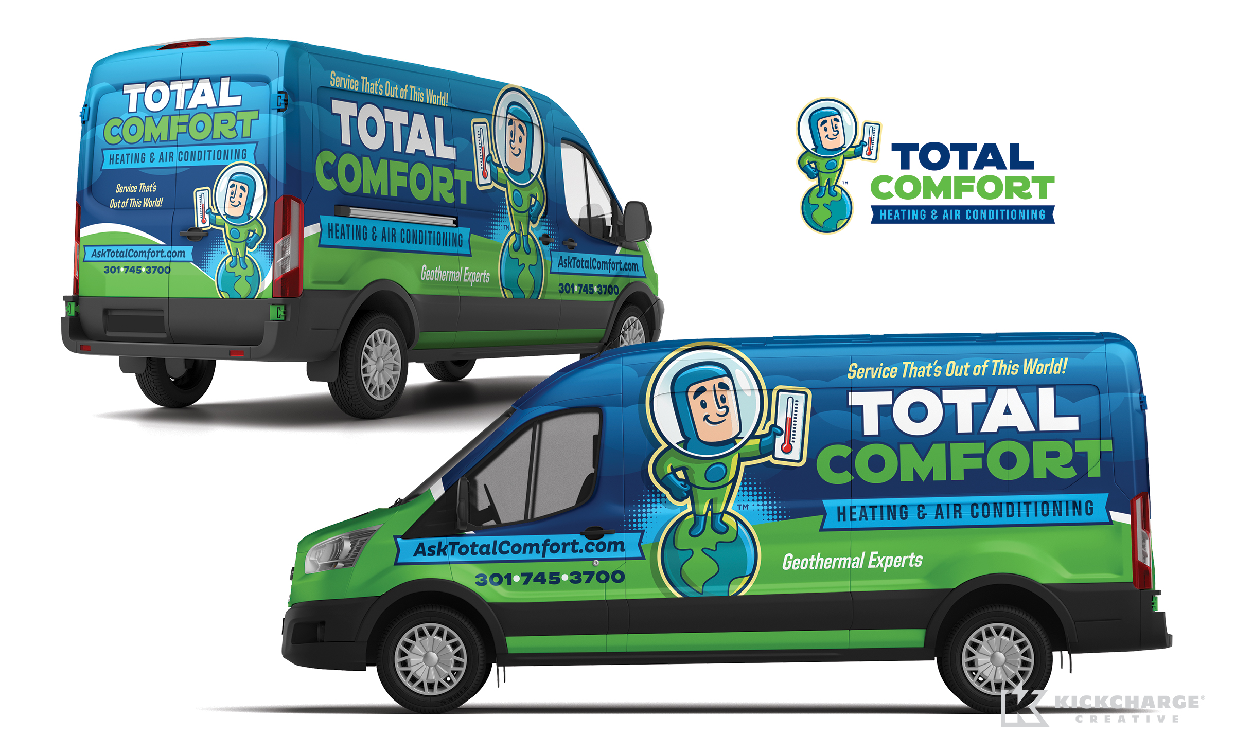 hvac truck wrap for Total Comfort