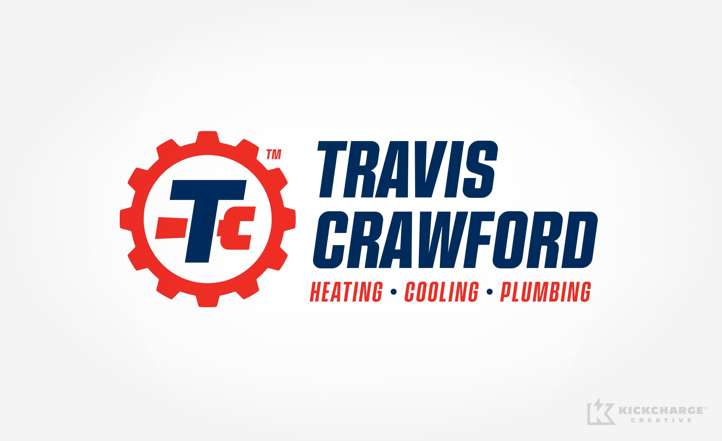 hvac and plumbing logo for Travis Crawford