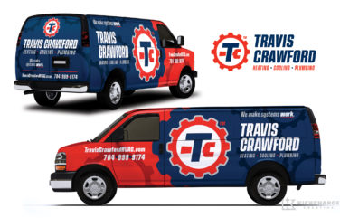 hvac and plumbing truck wrap for Travis Crawford