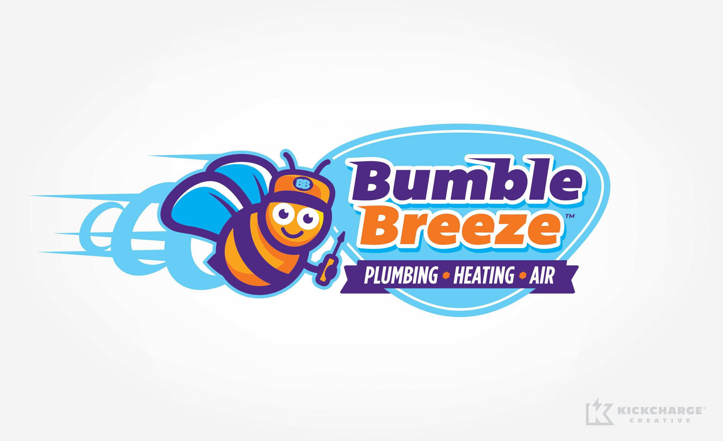 plumbing and hvac logo for Bumble Breeze