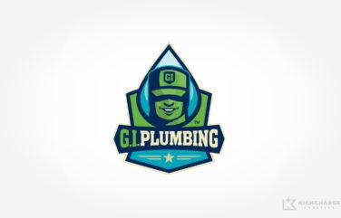 plumbing logo for G.I. Plumbing