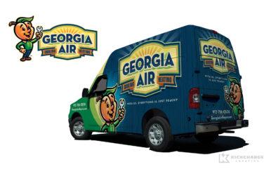 hvac truck wrap for Georgia Air