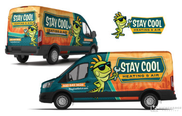 hvac truck wrap for Stay Cool Heating & Air