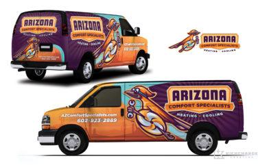 hvac truck wrap for Arizona Comfort Specialists