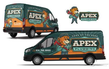 plumbing truck wrap for Apex Plumbing
