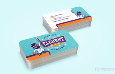 business cards for Element Air