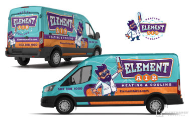 hvac truck wrap for Element Air