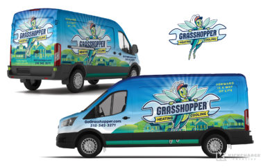 hvac truck wrap for Grasshopper Heating & Cooling