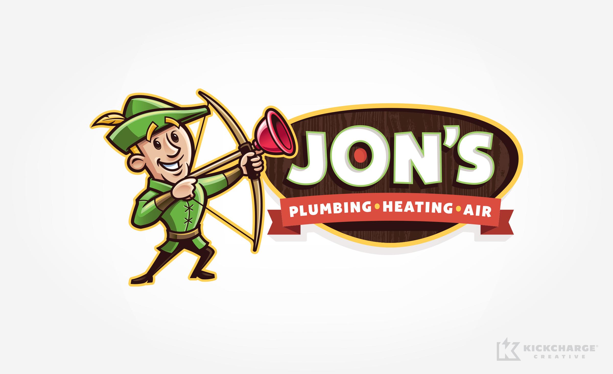 hvac and plumbing logo for Jon's Plumbing, Heating & Air