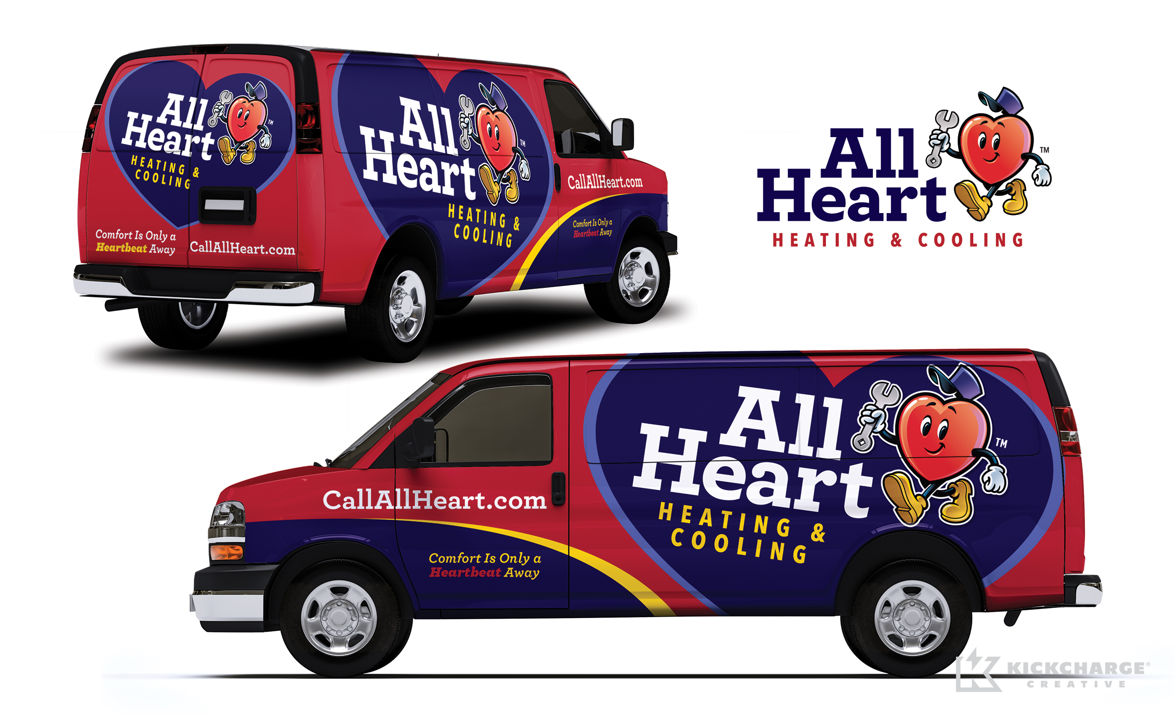 hvac truck wrap for All Heart Heating & Cooling
