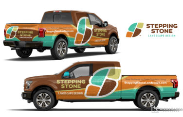 truck wrap design for Stepping Stone