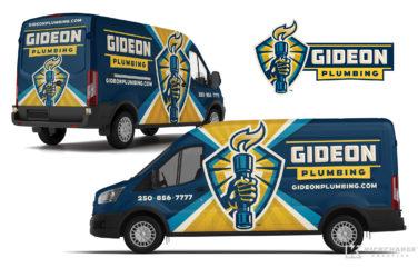 plumbing truck wrap for Gideon Plumbing