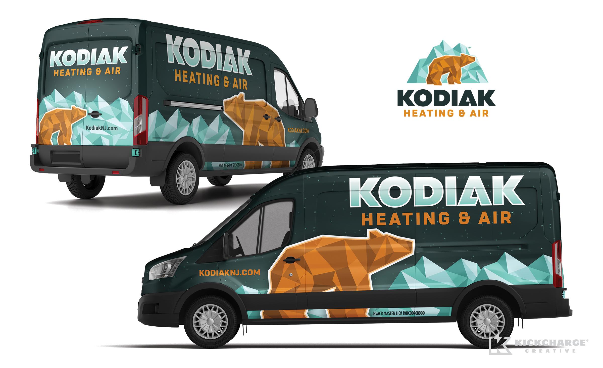 hvac truck wrap for Kodiak Heating & Air