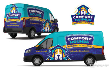 hvac truck wrap for Comfort Hounds