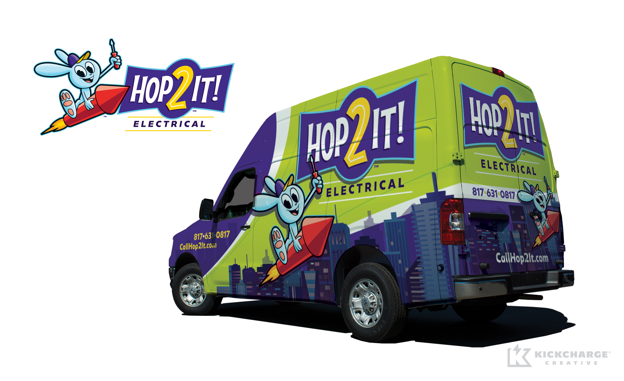 electrical truck wrap for Hop2It! Electrical