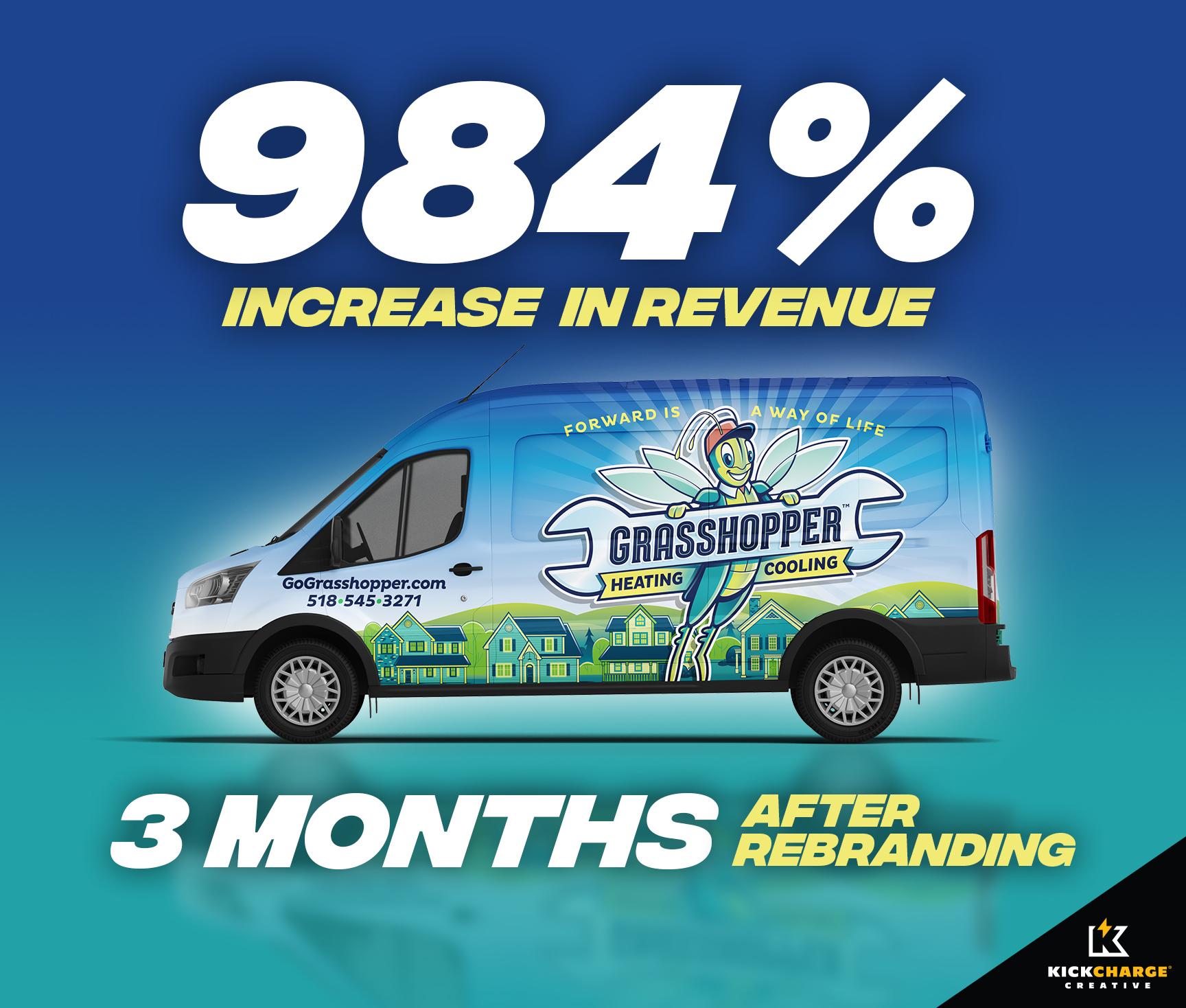 hvac rebranding success, hvac truck wrap