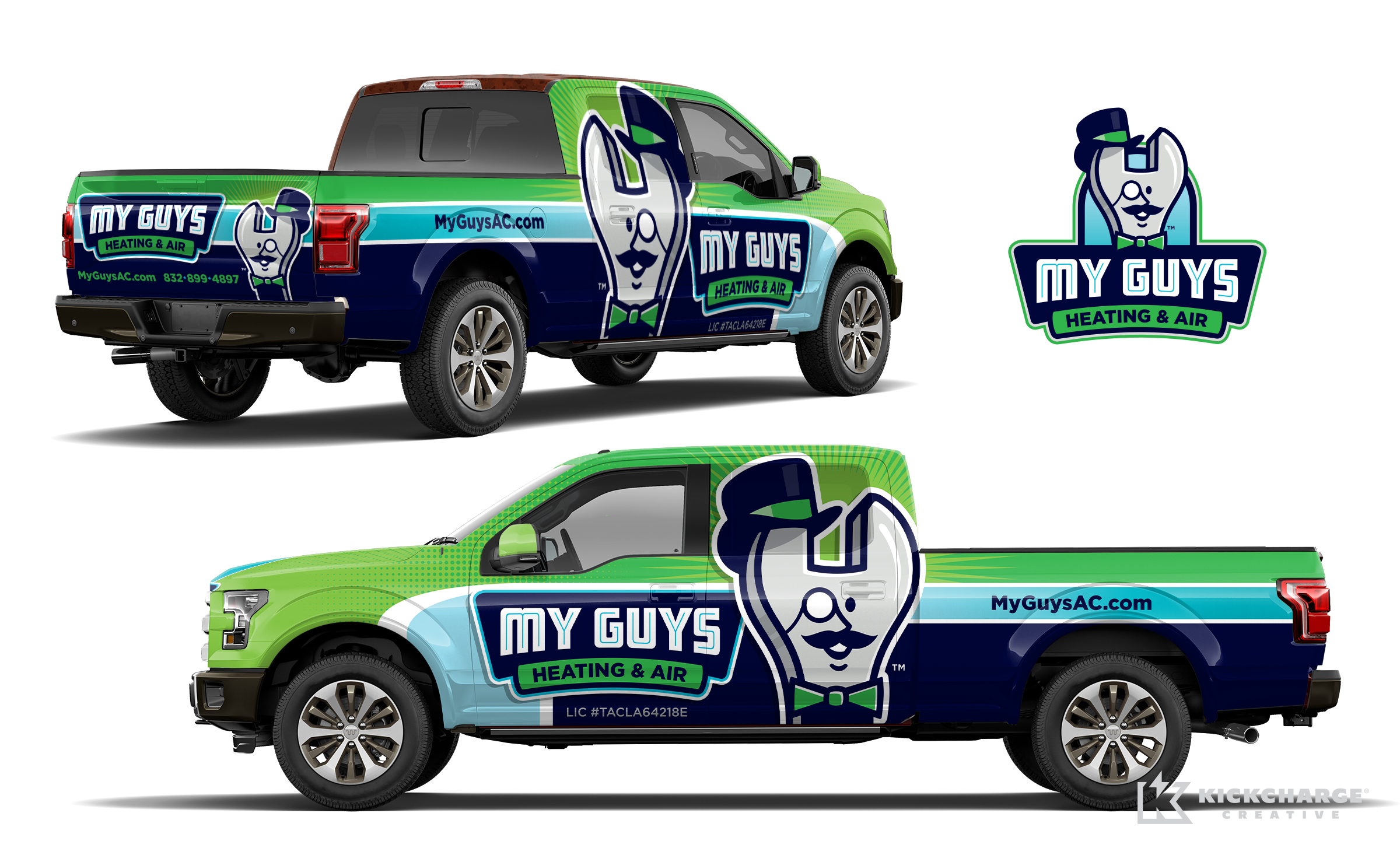 hvac truck wrap for My Guys Heating & Air
