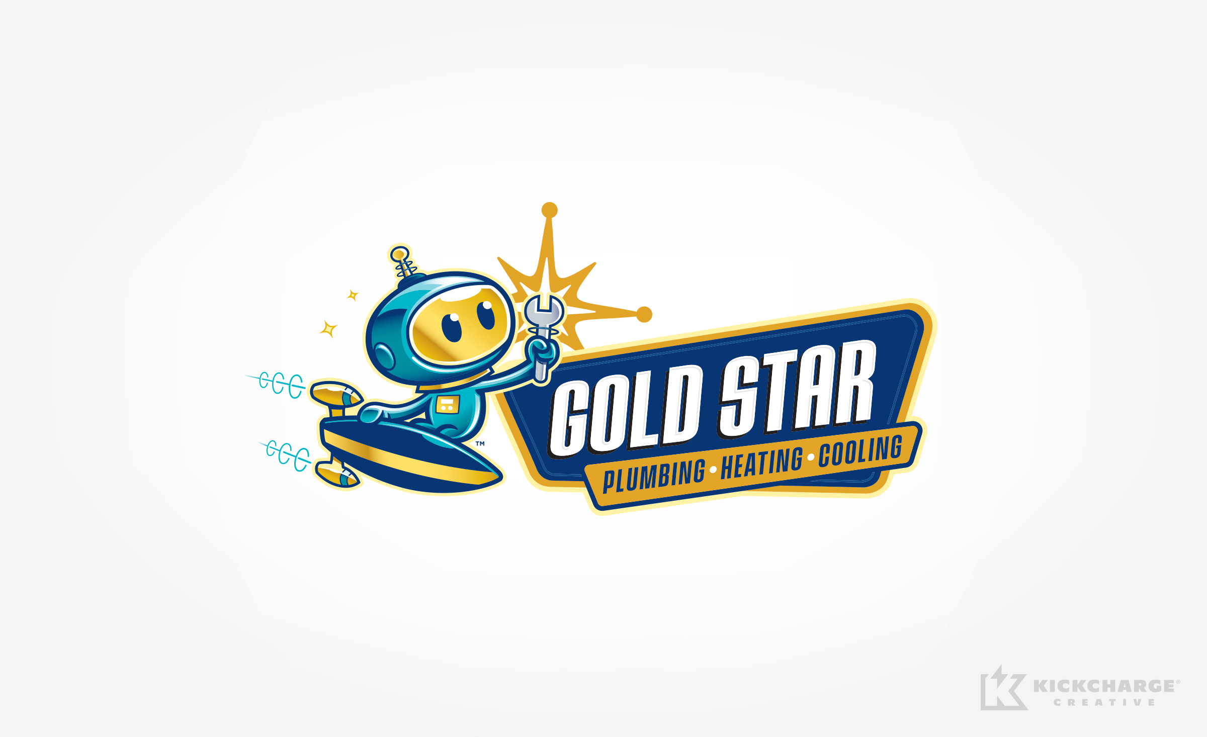 hvac and plumbing logo for Gold Star