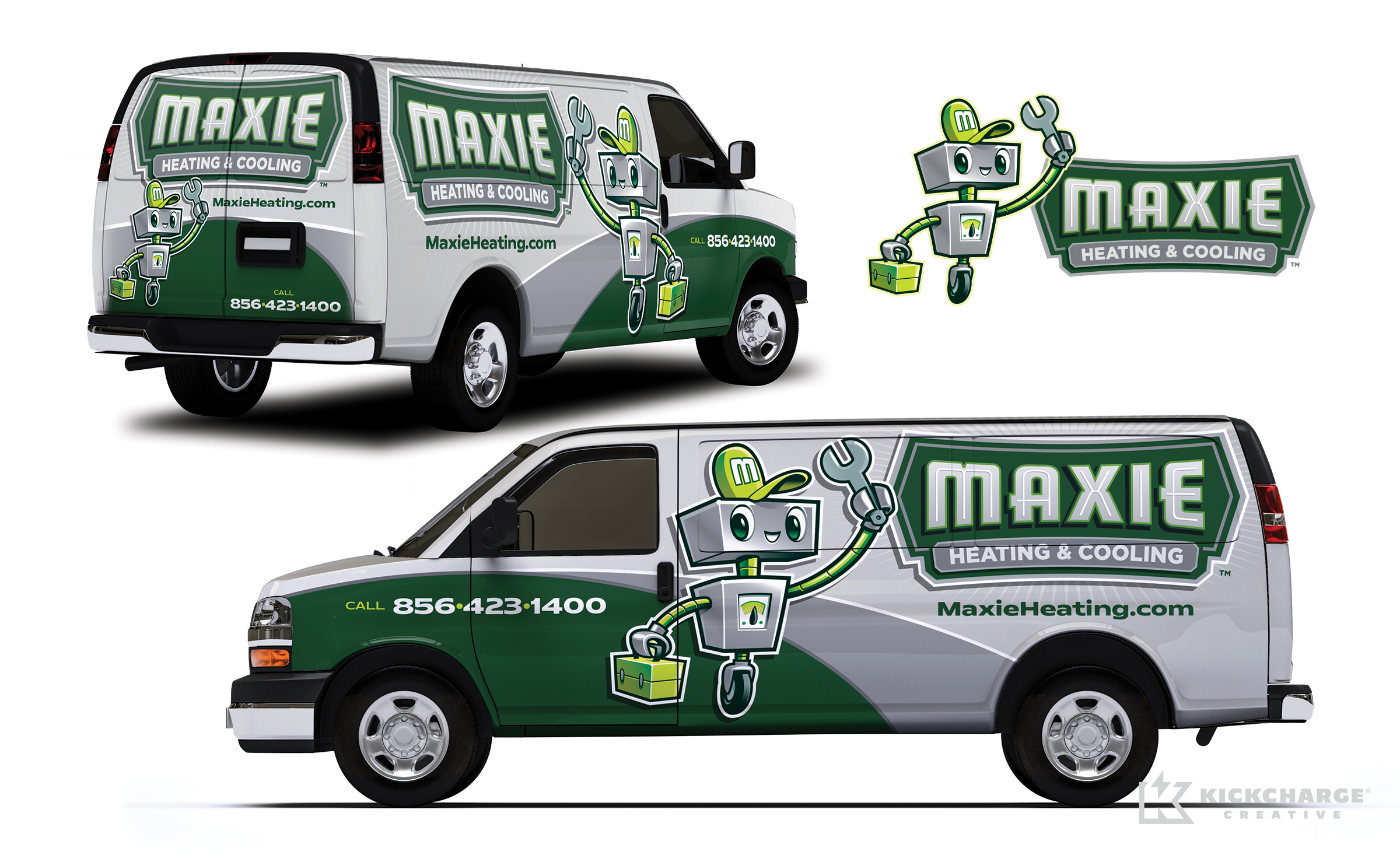 hvac truck wrap for Maxie Heating & Cooling