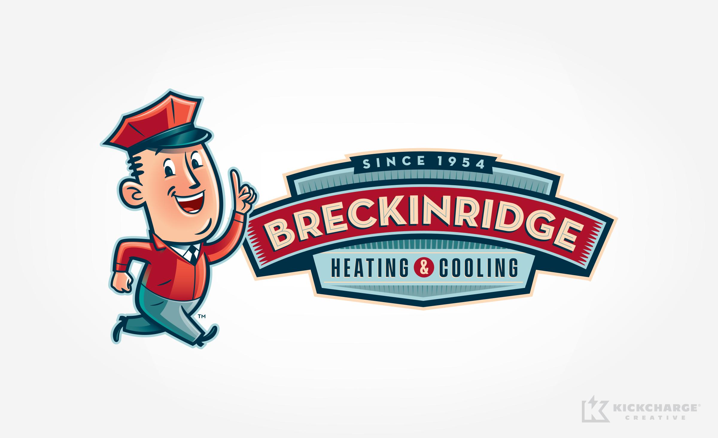 hvac logo design for Breckinridge Heating & Cooling