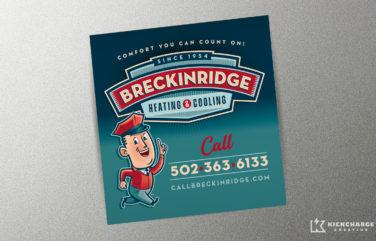 hvac equipment sticker for Breckinridge Heating & Cooling