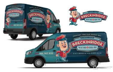 hvac truck wrap for Breckinridge Heating & Cooling