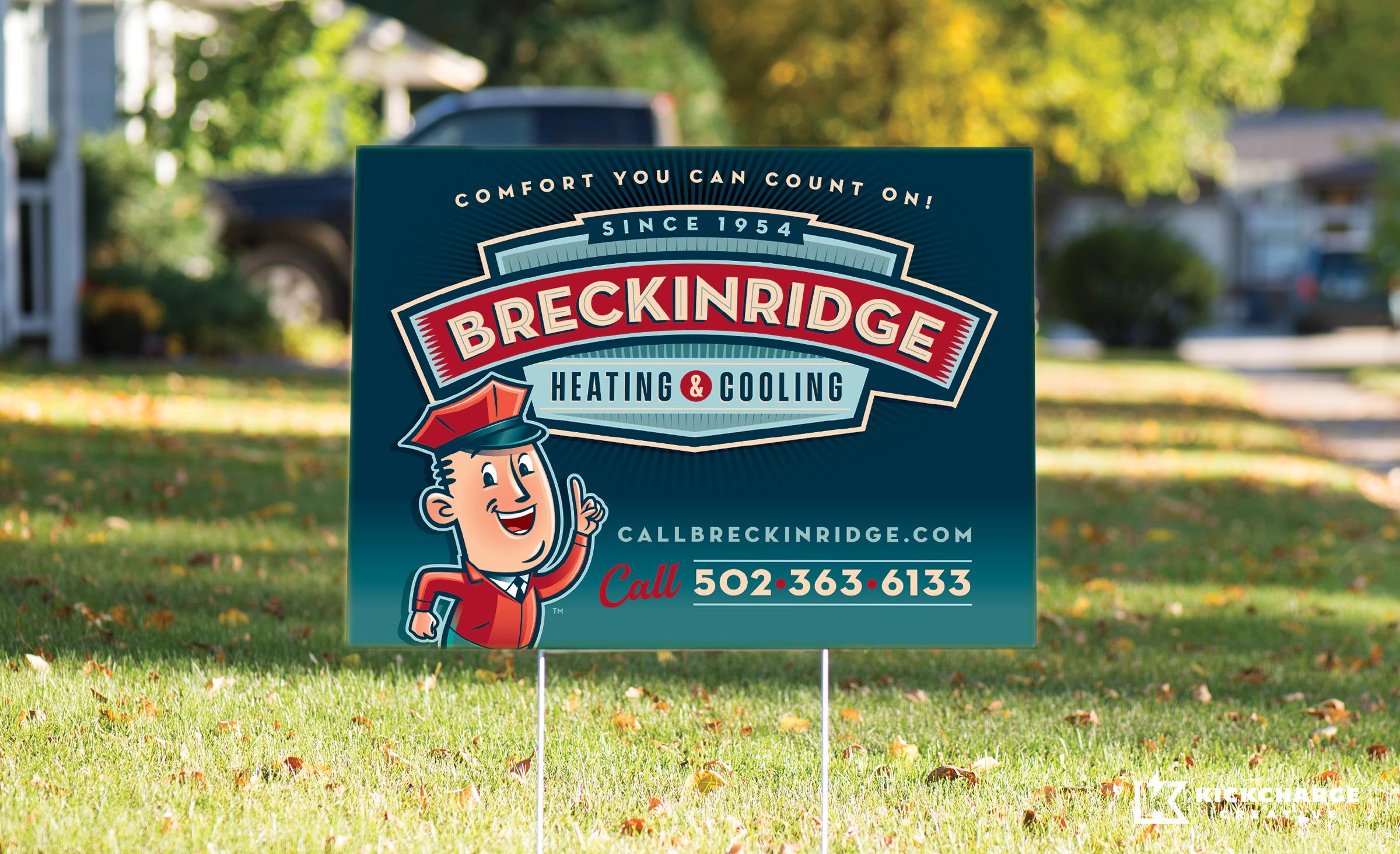 hvac yard sign for Breckinridge Heating & Cooling