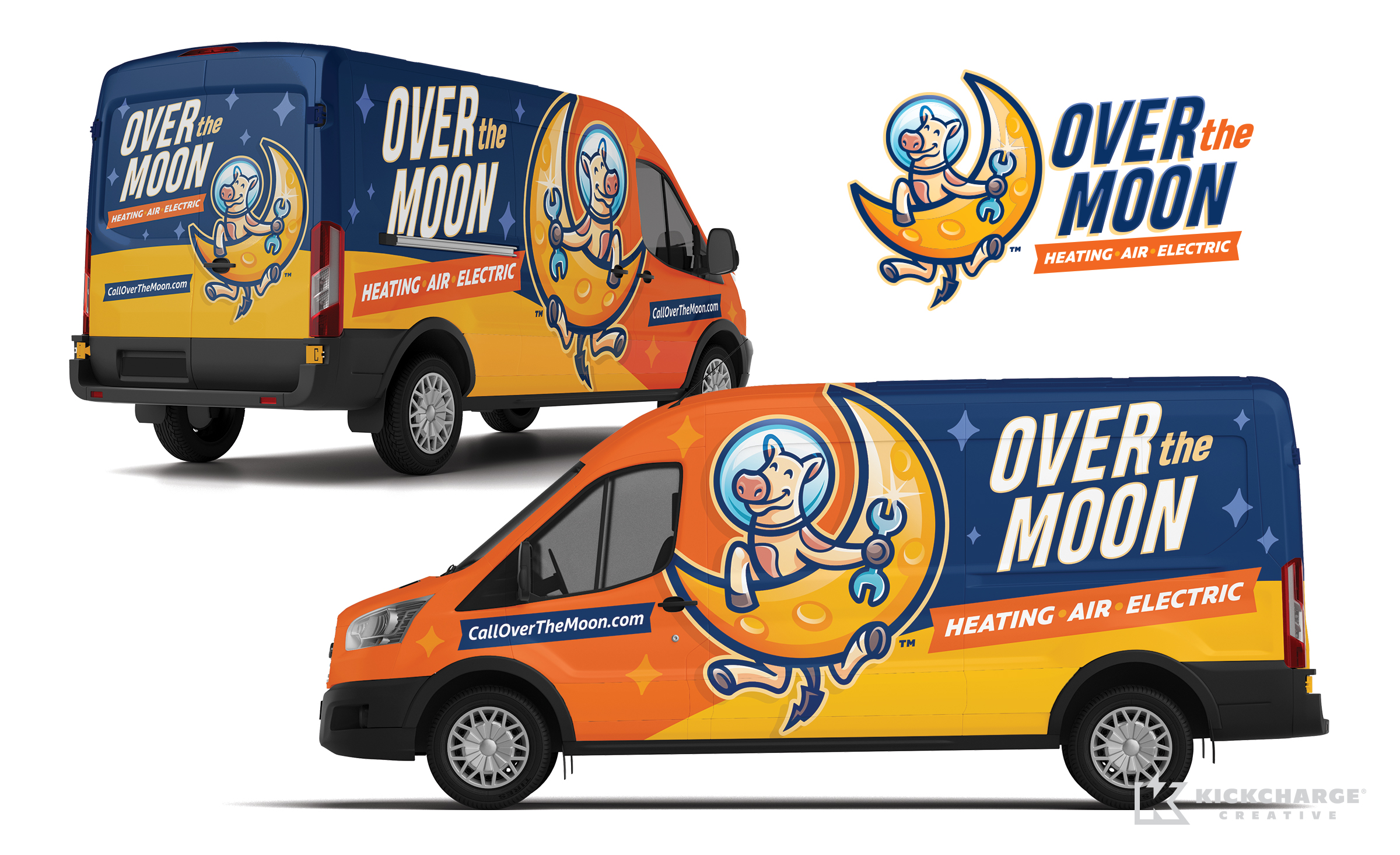 HVAC truck wrap for Over the Moon