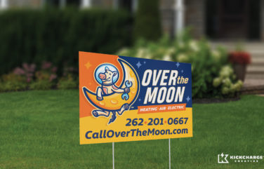 yard sign for Over the Moon