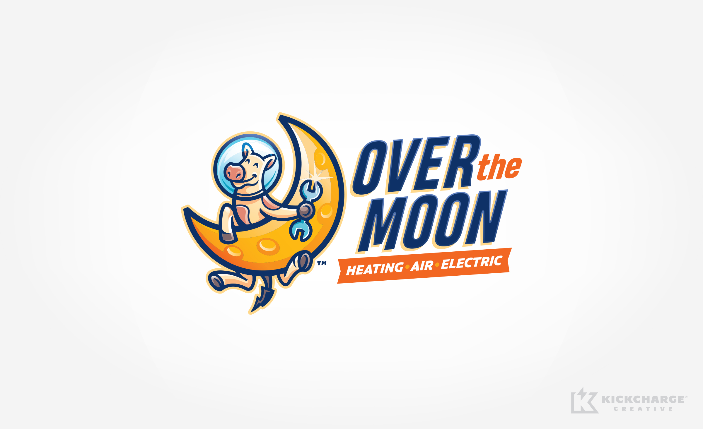 HVAC logo design for Over the Moon