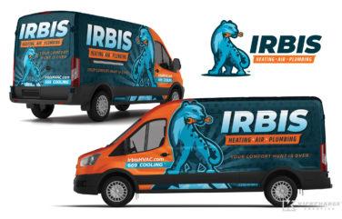 HVAC & Plumbing truck wrap for Irbis