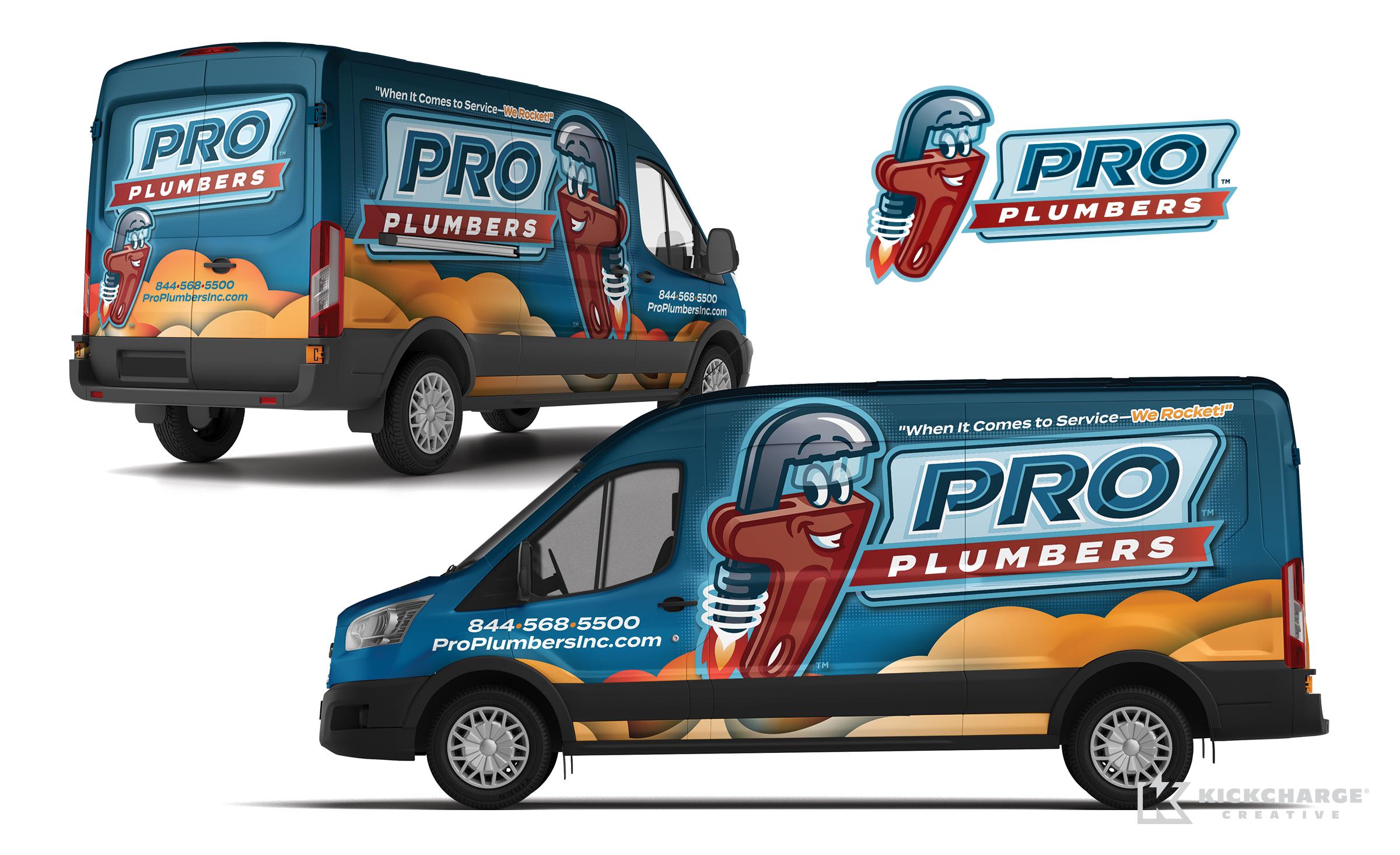 plumbing truck wrap for Pro Plumbers