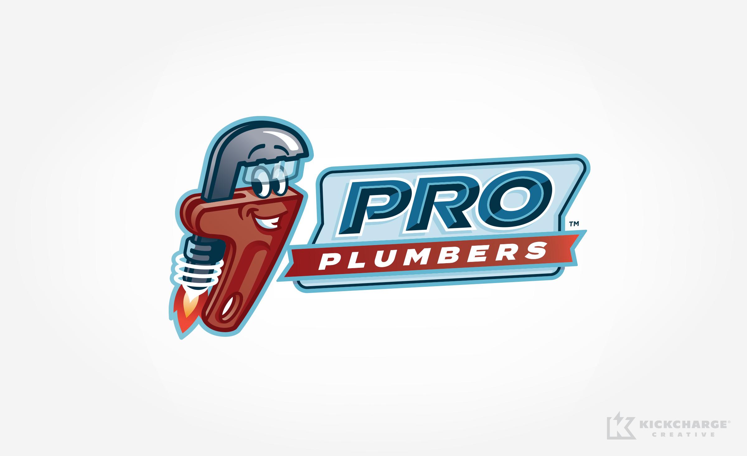 plumbing logo for Pro Plumbers